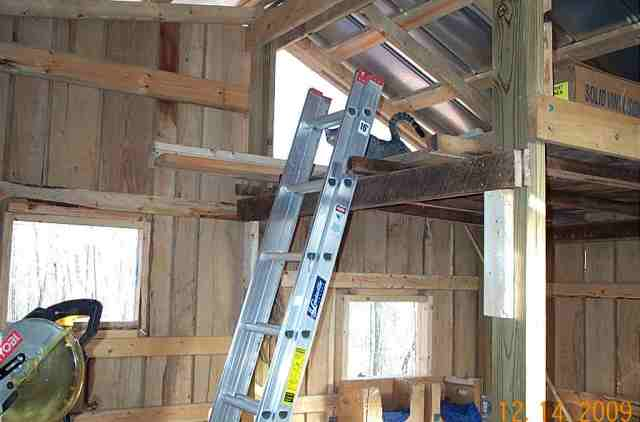 The loft in the barn for storage.