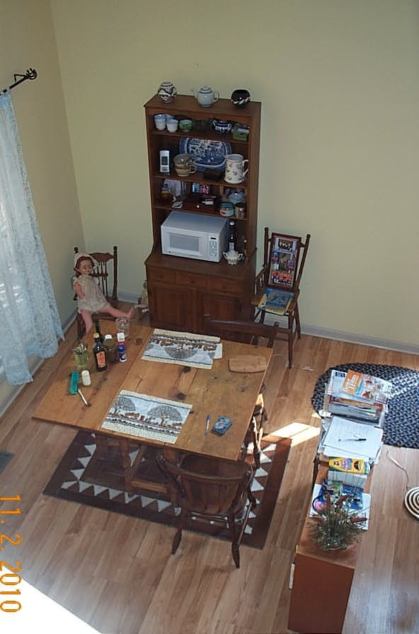 The dinning room as seen from the loft.