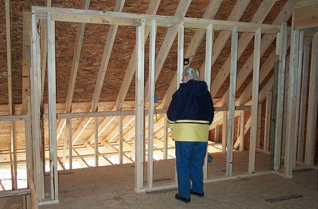 The loft was framed--