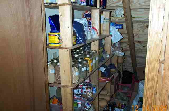Under the stairs in the pantry which we also use as a root cellar. Not as cold as I would like but in TN things don't get that cold.