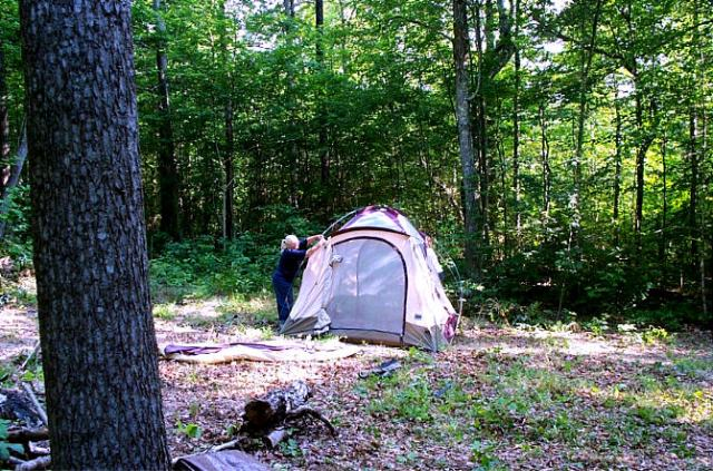 This one is a two man tent so Norman and I used this one.