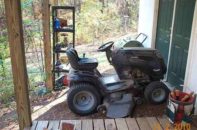 the tractor has been the work horse of this farm.